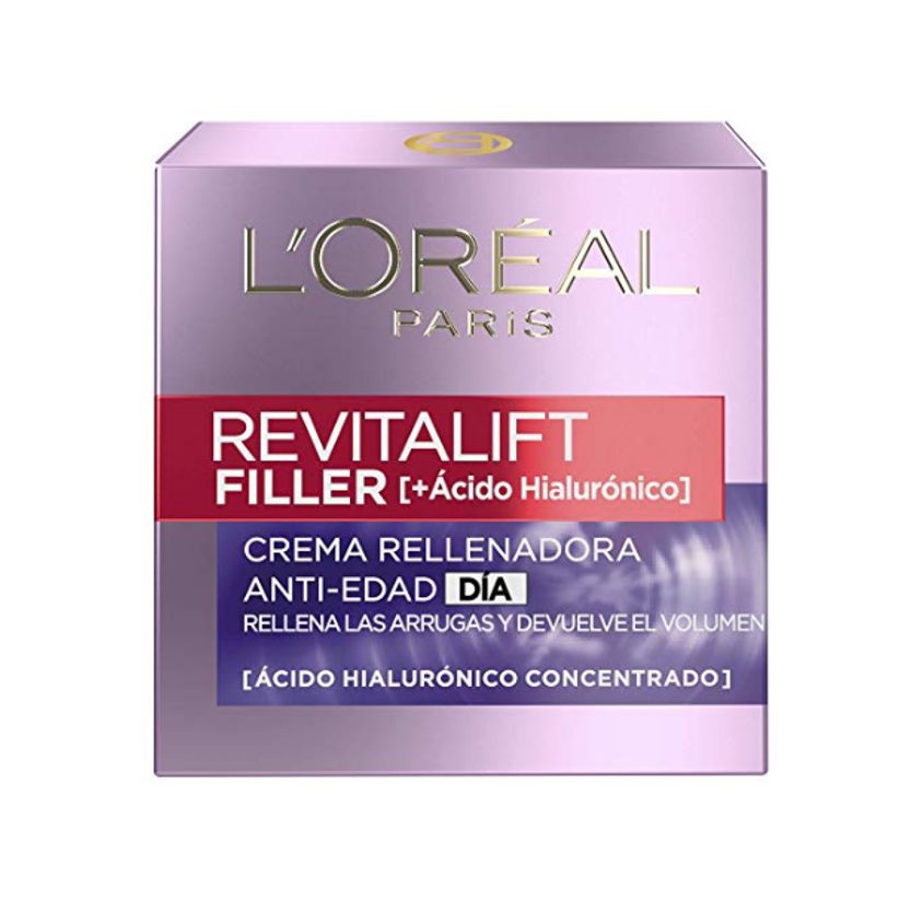 L'Oreal Paris Dermo Expertise Crema Día Revitalift Filler, con Ácido Hialurónico- 50 ml