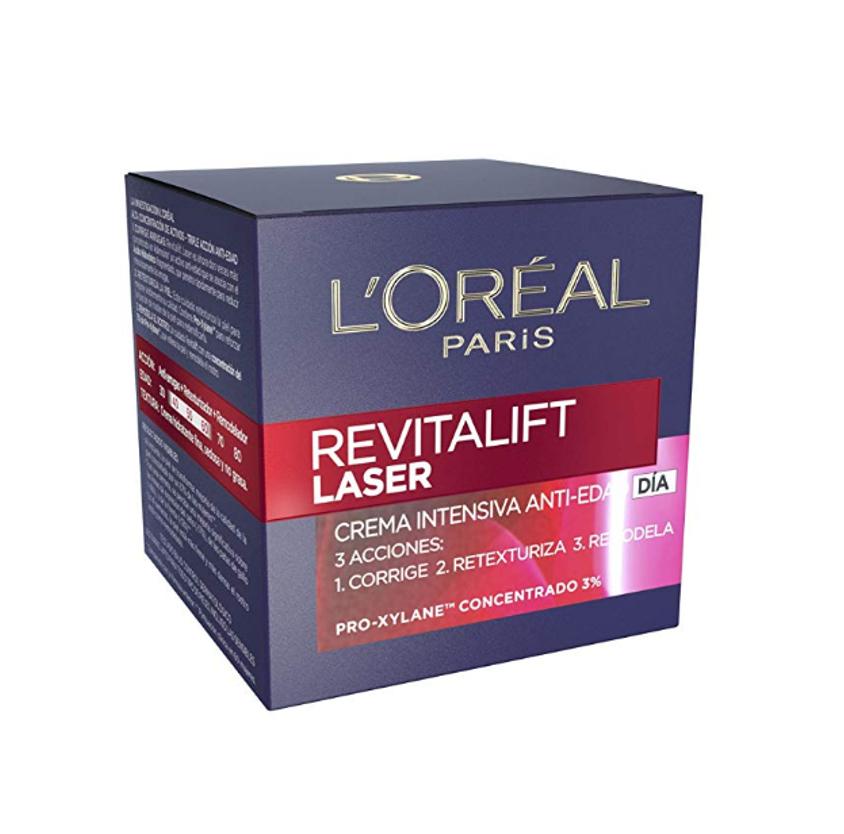 L'Oreal Paris Dermo Expertise Crema de Día Anti-Edad Efecto Piel Nueva Revitalift Láser, con Proxylane - 50 ml