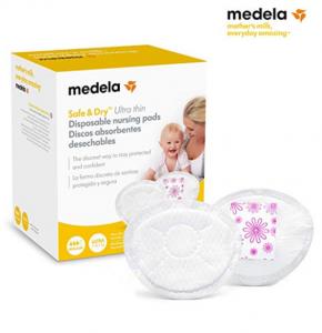 Medela Safe & Dry Ultra Thin - Discos absorbentes desechables, 60 unidades