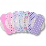 Protege Slips de tela reutilizables, pack de 7 salvaslips lavables de algodón con alas HECHAS EN LA UE