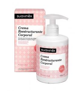 Suavinex - Crema Reestructurante Corporal Postparto. Recupera el Tono Cutáneo. Rápida Absorción, 400ml