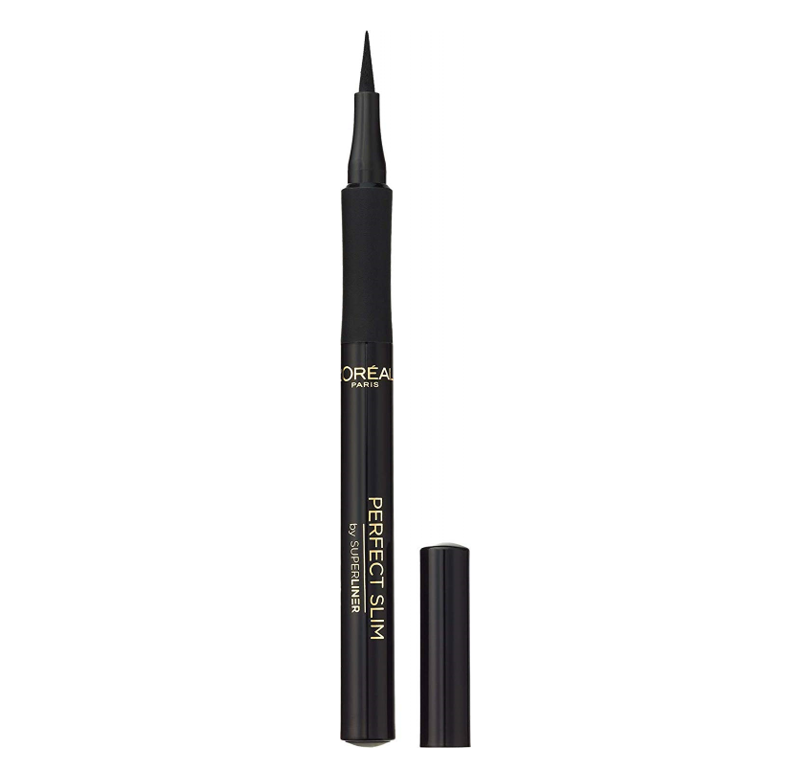 L'Oréal Paris Super Liner - Perfect Slim Eyeliner Líquido, Trazo Extrafino, Color Negro - 6 g