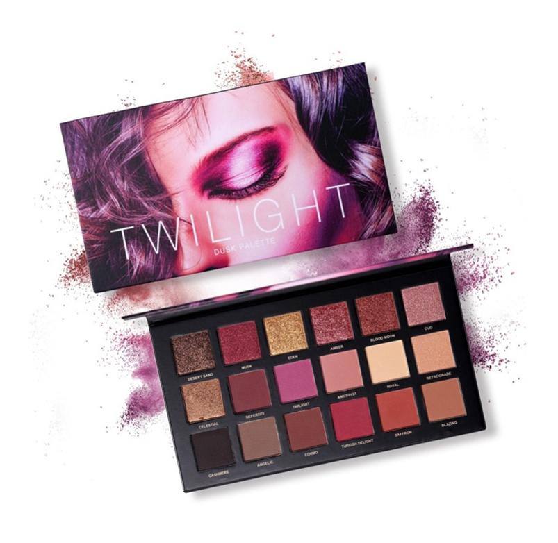 Paleta de sombras de ojos, Angmile Matte Eyeshadow Palette & Glitter Eyeshadow 18 Colores Combination Smoky with Shimmer Sombra de ojos Twilight & Dusk Makeup Palette Cosmetics