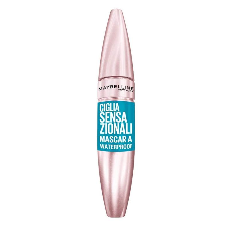 Maybelline New York - Lash Sensational, Máscara de Pestañas Waterproof, Tono Negro - 9,5 ml