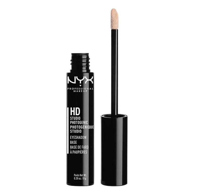 NYX Professional Makeup Prebase de sombra de ojos High Definition Eye Shadow Base, 2 unidades, Reduce la caída del color, Fórmula de larga duración