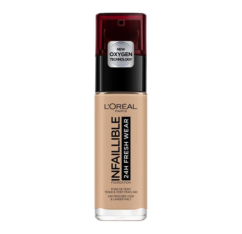 L'Oréal Paris Make-up designer24H Fresh Wear Base de Maquillaje de Larga Duración , Tono 235 Miel/Honey- 30 ml