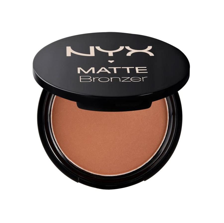 NYX Professional Makeup Polvos bronceadores Matte Bronzer, Polvos compactos, Sin brillos, Fórmula vegana, Tono Light