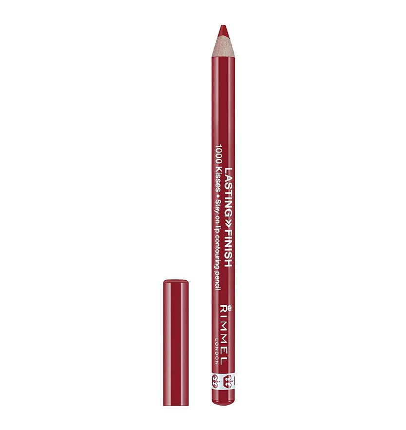 Rimmel London 1000 Kisses Lipliner Perfilador de Labios Tono 021 Red Dynamite - 4 gr