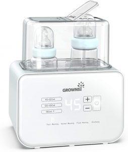 Calentador de biberones, esterilizador de biberones Calentador rápido de alimentos para bebés 6-en-1 y descongelador Calentador pantalla LCD Control preciso de temperatura para leche materna