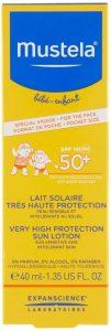 MUSTELA LECHE SOLAR ROSTRO 50+ 40 ML