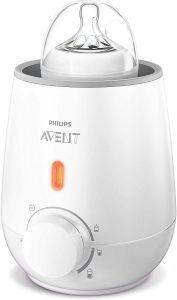 Philips Avent SCF355/00 - Calienta Biberón Rápido, Función de Descongelación, Calentamiento Uniforme Del Líquido [Enchufe Español], Blanco