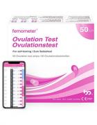 Femomter 50 Tests de Ovulación 20 mIU/ml,, Resultados Precisos con la App (iOS & Android) Reconocimiento Automático de los Resultados de las Pruebas